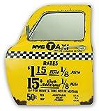 Unbekannt ZEP yy161Porte De Taxi New York Wanddekoration Spiegel Metall gelb