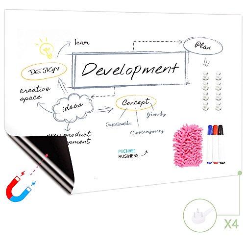 (Fancy-fix magnetische selbstklebende abwaschbare Whiteboard Tafelfolie, Schreibtafel Weißwandtafel, wiederverwendbar 120cm×240cm)