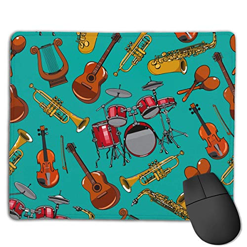 Musical Instruments Drum Guitar High Speed Surface Desk Pad Gaming Mousepad (Nintendo Drums)