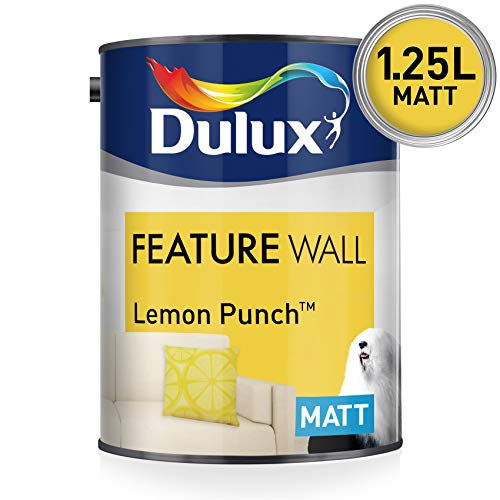Dulux Feature Wall Matt 1,25 L - Pinturas de pared para interior (Emulsion, Preparado, Pared, Amarillo, Mate, 1,25 L)