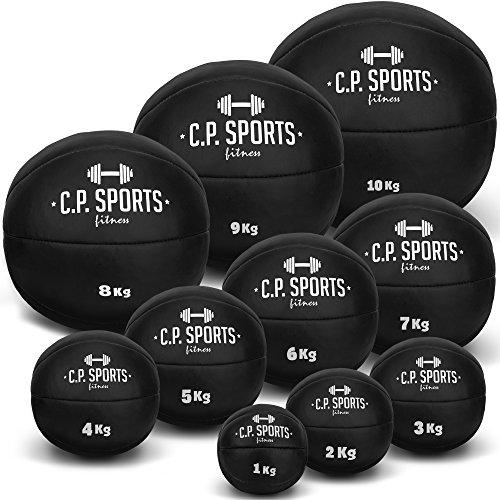 Medizinball K5, Gewichtsball, Medizinbälle, Crossfit Ball - Erhältlich: 1kg - 10kg (8-KG-schwarz)