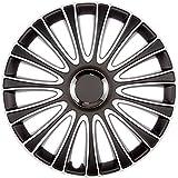 ASD TECH PP 5197 Pack de 4 Enjoliveurs Design Lemans 17'' Noir/Blanc