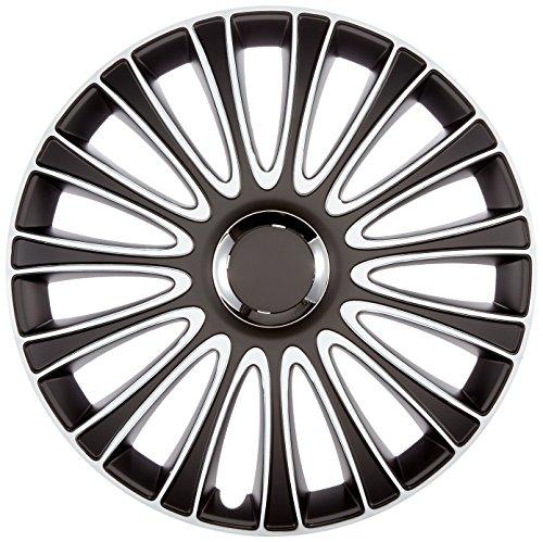 Autostyle PP 5197 LeMans Set de tapacubos, 17 pulgadas, color negro y blanco