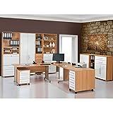 Arbeitszimmer Büromöbel MAJA SYSTEM 1299 Komplettset in Buche / Weiß Hochglanz 10-teilig