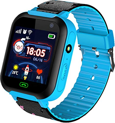 Niños Smartwatch Impermeable - Reloj de Pulsera Inteligente con ubicación GPS/LBS Reloj...