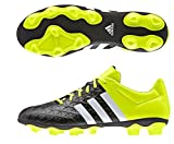 adidas Performance ACE 15.4 FxG, Herren Fußballschuhe, Gelb (Core Black/FTWR White/Solar Yellow), 42 2/3 EU (8.5 Herren UK)