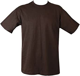Mens Plain Military/Army T-shirt 100% Cotton (X-Large, Black)