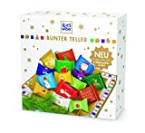 RITTER SPORT Bunter Teller, Schokoladen-Geschenk, Süßigkeiten zu Weihnachten, Schale gefüllt mit Schokolade, ideale Tischdeko zu Weihnachten, 3 x 230 g