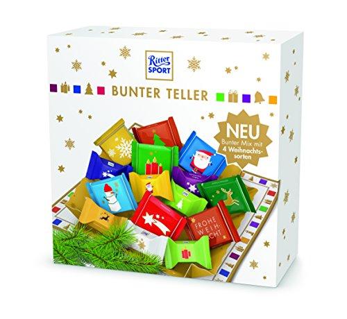 Preisvergleich Produktbild RITTER SPORT Bunter Teller (3 x 230 g),  Schokoladen-Geschenk,  Süßigkeiten zu Weihnachten,  Schale gefüllt mit Schokolade,  schöne Tischdeko