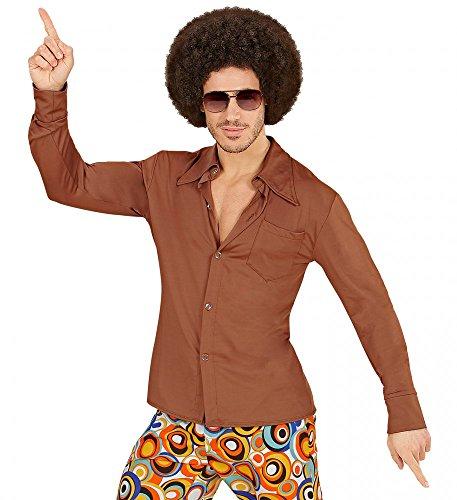 70er Jahre Retro Hemd mit und ohne Muster Disco Herren Kostüm Siebziger Schlager, ()