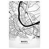 artboxONE Poster 30x20 cm Automobile Basel Retro Map