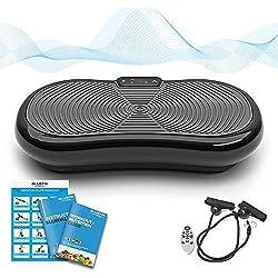 Bluefin Fitness Plateforme Vibrante et Oscillante Ultra Slim   Perte de poids & Brûleur de Graisses à la Maison   5 Programmes + 180 niveaux   Haut-parleurs Bluetooth   Design Anglais Élégant