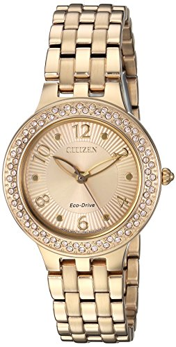 Citizen Femme 'Eco-Drive' à Quartz en Acier Inoxydable Montre de Style décontracté, Couleur: Gold-Toned (modèle: Fe2082–51p)