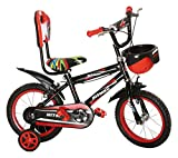 NY Bikes 14T Hitman Steel Kids Bicycle for 2 to 4 Years Kids (Black & Red)