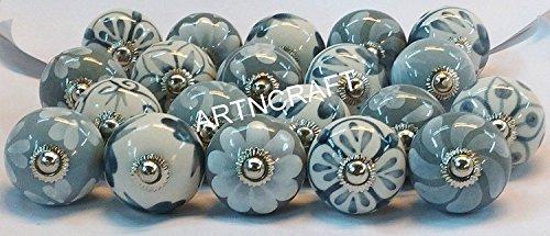 jgarts 20gris y blanco crema de cerámica mango de armario de cerámica pomos para puertas tiradores de armario cajón tirador pomo