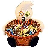 BlueSpace Halloween Candy cestini per Bambini Snack Porta Frutta Ciotole per Party Decorazioni, Rattan e Vimini, White, Ghost