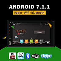 2 din android 7.1 car dvd player 6.2 inch with gps navigation stereo support Bluetooth WIFI Mirror Link Steering Wheel OBD DAB AM/FM/SD/USB With Free Camera
