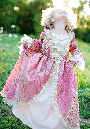 Renaissance-Kleid, rosa-gold