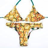 YONGYI L'Europe et la communauté d'ananas stamp-maillot de bain, bikini corner 3 courroie d'attache pas de tampon de la poitrine d'usure recto-verso