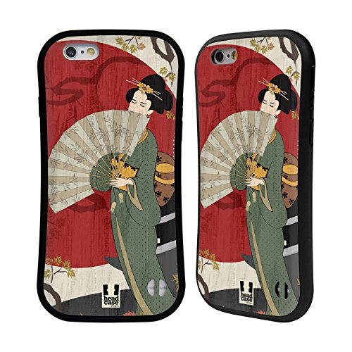 Head Case Designs Kiyoshi Geisha Étui Coque Hybride pour Apple iPhone 6 / 6s Kiyoshi