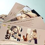 Einladungen Hochzeitskarten, Liebe durch und durch 200 Karten, Kartenfächer 210x80 inkl. weißer Umschläge, Braun