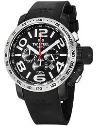 TW Steel Grandeur TW-42 - Reloj unisex de cuarzo, correa de goma color negro