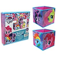 My Little Pony Collapsible Storage Box Cubes Kids Room Tidy (Set of 3)