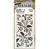 Stampers Anonymous Plastic Tim Holtz Layered Stencil 4.125-inch x 8.5-inch, Festive