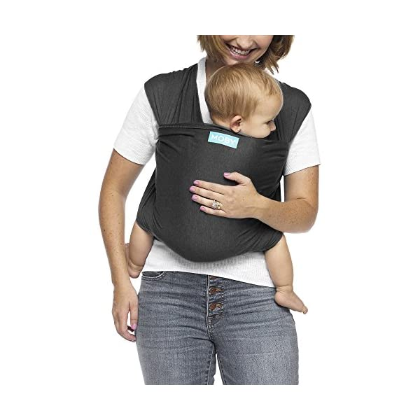 MOBY Evolution Baby Wrap Carrier for Newborn to Toddler up to 30lbs, Baby Sling from Birth, One Size Fits All, Breathable Stretchy Made from 70% Viscose 30% Cotton, Unisex Moby 70% Viscose / 30% Cotton Knit One-size-fits-all Grows with baby, from newborn to toddler 2