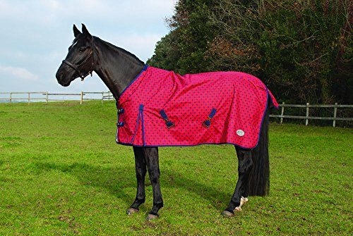 Rhinegold Dottie Torrent Lightweight Outdoor Horse Turnout Rug – Red, 5.6-Inch