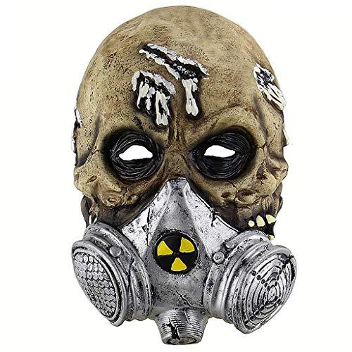 Halloween Latex Kopf Masken Gruselige Zombie Kostüm Cosplay Requisiten - Scary Kostüm Mit Gasmasken