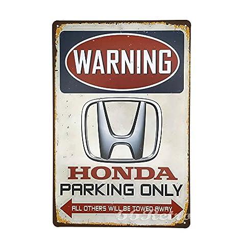 66retro Honda Parking Only, Vintage Retro Metall blechschild, Wand Deko Schild, 20cm x 30cm