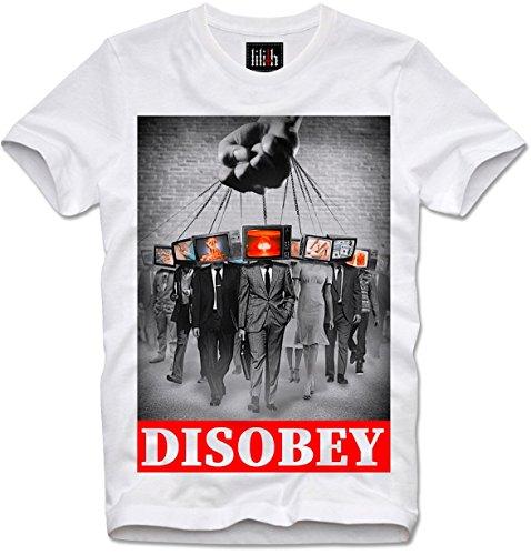 Lilith T-Shirt Disobey MASSENÜBERWACHUNG Mass Media MASSENMEDIEN Surveillance NWO, M - Nwo-t-shirt