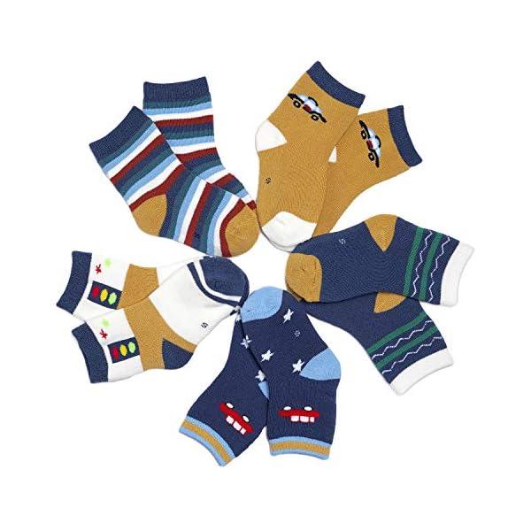 Adorel Calcetines Invierno de Felpa para Niños Paquete de 5 3