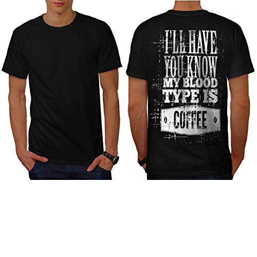 du-sang-type-est-cafe-drole-homme-nouveau-noir-xl-t-shirt-reverse-wellcoda