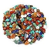 Rosepoem 100G / Pack Natürliche Bunte Kristall Stein Bunte Kies Rohe Steine 7-9 Mm Für Garten Decor/Aquarium (Gelegentliche Anlieferung)