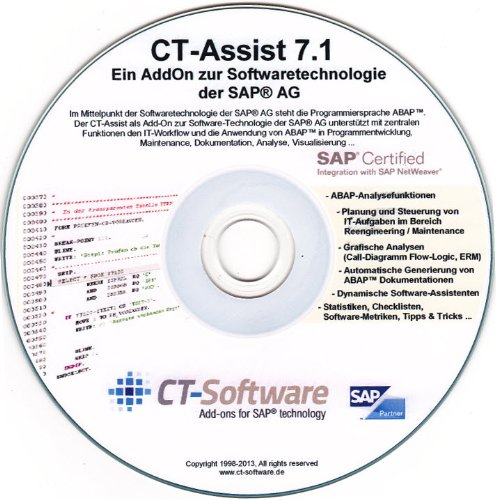 CT-Assist 7.1: ABAP Analyse, Dokumentation, Maintenance, Management, IT-Workflow, SAP zertifiziert