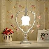Lozse Tischleuchte, Keramik, Rose, Schlafzimmer, Bett, Dimmen, Schreibtisch Lampe