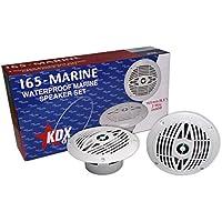 KDX-Audio 165-Marine - Juego de Altavoces para embarcaciones, Color Blanco