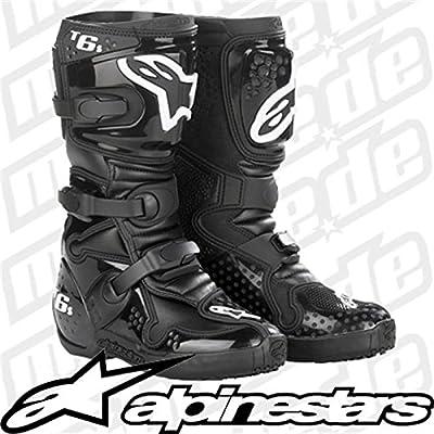 Alpinestars Botas de Motorista para Infantes Tech 6 S. - EU 34, 65% poliuretano, 25% piel, 10% metal, Negro