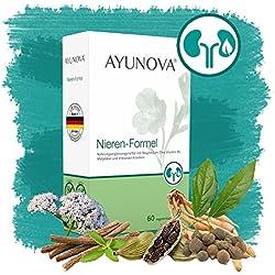 AYUNOVA Nieren-Formel - 60 vegane Kapseln mit der einzigartigen Kombination aus bewährten Pflanzen, essentiellen Vitaminen und Mineralstoffen - Ihr täglicher Beitrag für eine optimale Nierenfunktion