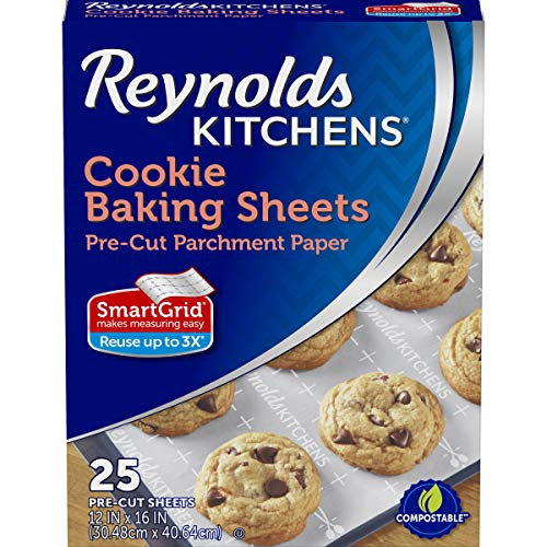 Reynolds Cookie Baking Sheets Non-Stick Parchment Paper, 100 Sheets, 4 Count by Reynolds Non-stick Sheet