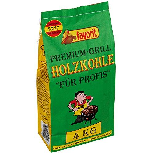 120 x 4 kg Favorit Premium Holzkohle, Grillkohle, Kohle - Hartholz Mix - 480 kg Palette mit 120 Sack