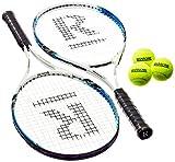 Ransome Sporting Goods Tennisschläger-Set für Erwachsene, 68,6 cm/27 Zoll, orange/Schwarz/blau
