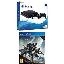 PlayStation 4 (PS4) - Consola de 1 TB + 2 Dual Shock 4 Wireless Controller + Destiny 2 - Edición Estándar