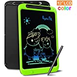 Richgv LCD Writing Tablet, 12 Zoll Digital Ewriter Electronic Graphics Tablet Mini Schreibtafel Papierlos Notepad Doodle Board für Kinder ab 3/5/6/8/10 Jahre Und Erwachsene (Colorful)