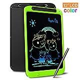 Richgv LCD Writing Tablet, 12 Zoll Digital Ewriter Electronic Graphics Tablet Mini Schreibtafel Papierlos Notepad Doodle Board für Kinder ab 3/5/6/8/10 Jahre Und Erwachsene (Colorful)