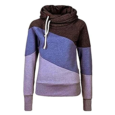 Zhhlinyuan Korean Fashion Thickening Pullover Hooded Splicing Color Design Sweater