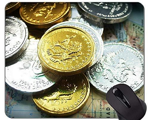 Yanteng Alfombrilla de ratón Personalizada única Alfombrilla de ratón, Párrafo de Monedas...