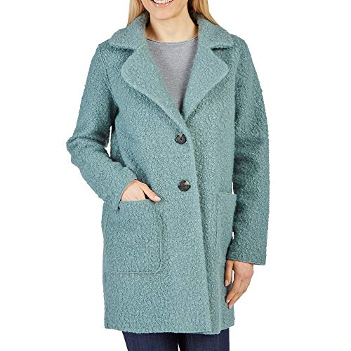 TOM TAILOR 35 55392.00.70 Damen Langarm Mantel mit Reverskragen V-Ausschnitt, Groesse 42, Mint